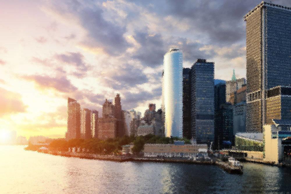Manhattan City Sunset
